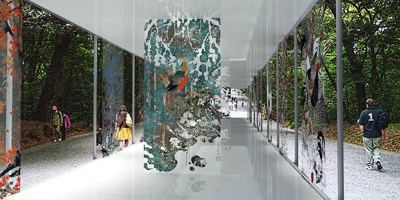 Ito Jakuču izložbeni paviljon, Tokio (Studio Alfirević, 2012) - II nagrada, konkursno rešenje