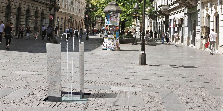 Javna česma grada Beograda, Beograd (Studio Alfirević, 2012) - III nagrada, konkursno rešenje