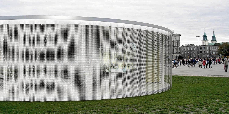 Operalab pozorišni paviljon, Varšava (Studio Alfirević, 2012) - konkursno rešenje
