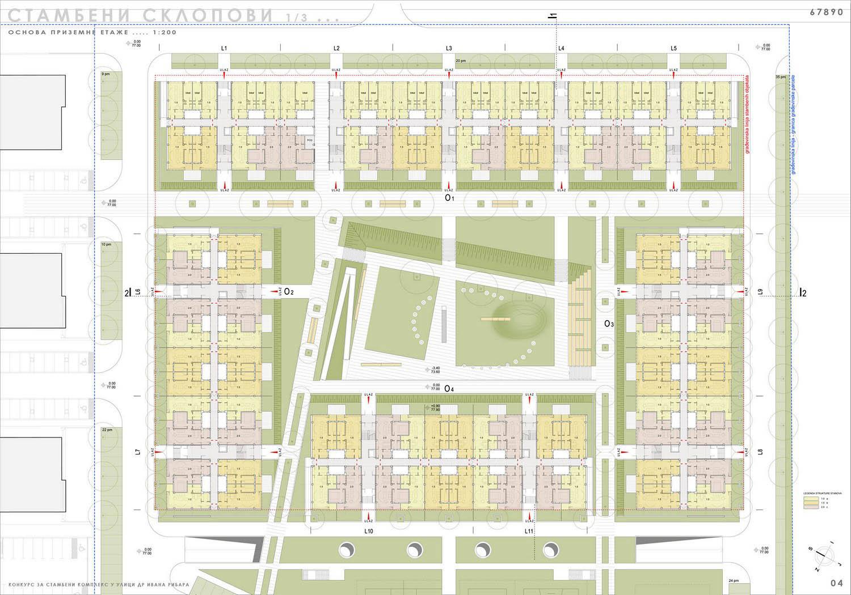 Stambeni kompleks kod ulice dr Ivana Ribara, Beograd (Đorđe Alfirević, Darko Marušić, Milenija Marušić, 2011) - konkursno rešenje