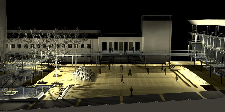 Trg ispred Beogradskog dramskog pozorišta, Beograd (Đorđe Alfirević, 2003) - I nagrada, konkursno rešenje