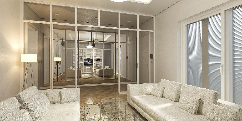 Enterijer salonskog stana Optimal 135, Beograd (Studio Alfirević, 2016) - idejni projekat
