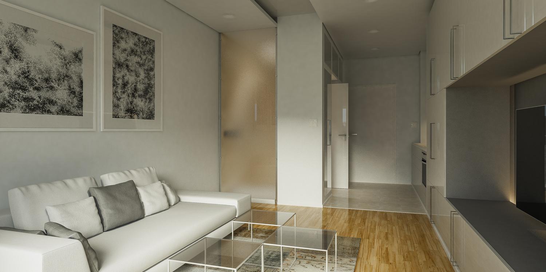 Enterijer stana Minimal 30, Beograd (Studio Alfirević, 2015) - idejni projekat