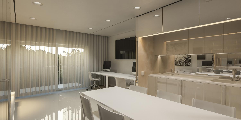 Enterijer stana Minimal 43, Beograd (Studio Alfirević, 2015) - idejni projekat
