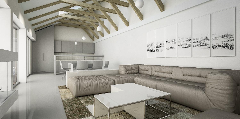Solarna atrijumska kuća, Topola (Studio Alfirević, 2013) - idejno rešenje