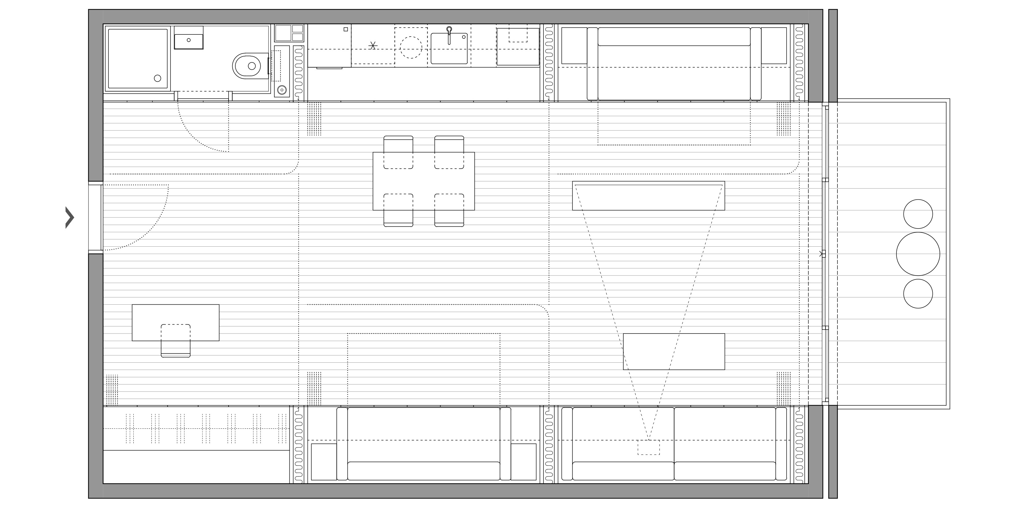Curtain Wall Apartment, Beograd (Studio Alfirević, 2019) - idejni projekat
